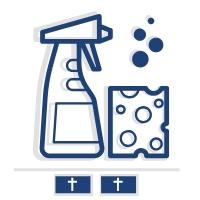 Sprzątanie i mycie podwójnego nagrobku