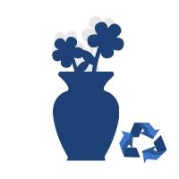 Sztuczne kwiaty do wazonu - duże