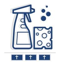 Sprzątanie i mycie nagrobka rodzinnego (trzy płyty)