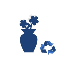 Sztuczne kwiaty do wazonu - małe